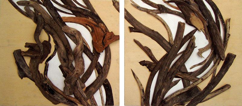 """10 """"Sturm"""", 245 x 95 cm, Holz und Öl_800_2"""