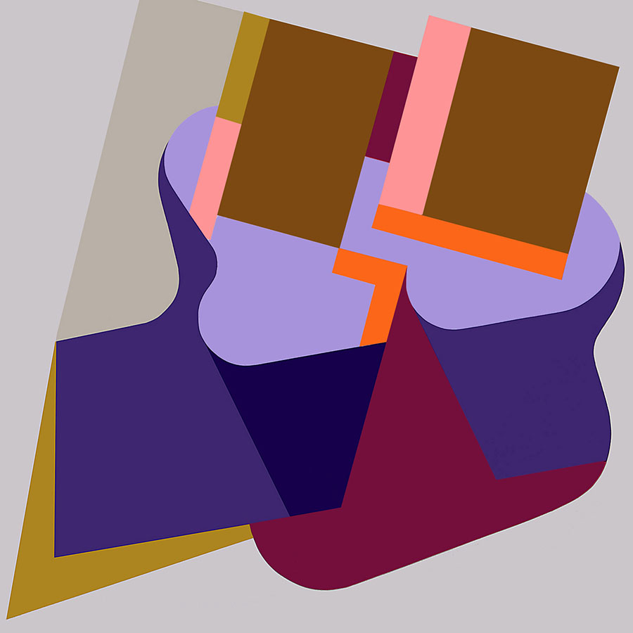 Dancing with Josef Albers, acrylic on canvas, 150 x 150 cm, 2010_900