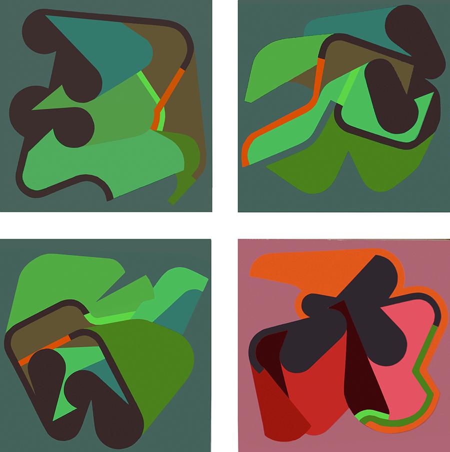 Entomologist's Adventures, acrylic on canvas, 4 x 80 x 80 cm, 2009_900
