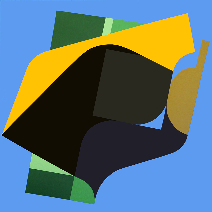 Gargoyle, acrylic on canvas, 100 x 100 cm,2010_900